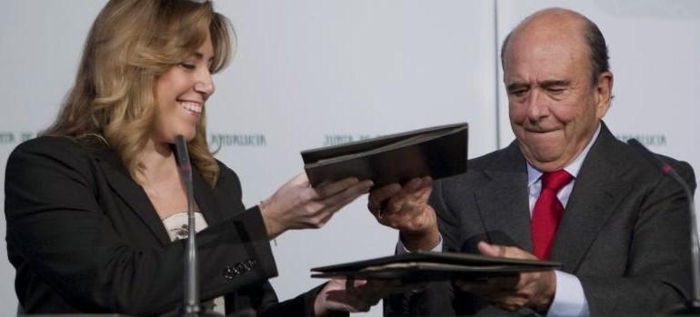 Susana Díaz cambia de estrategia y hace caja con los principales jefes del Ibex 35