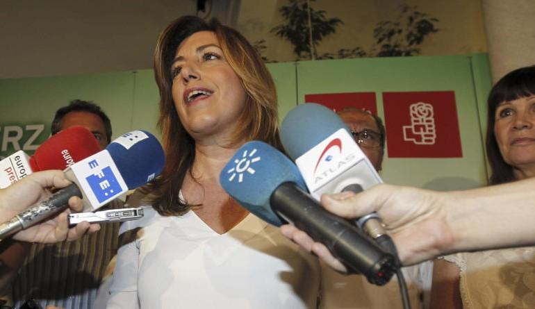 Susana Díaz se revalida como lideresa del PSOE tras la arrolladora victoria de Sánchez