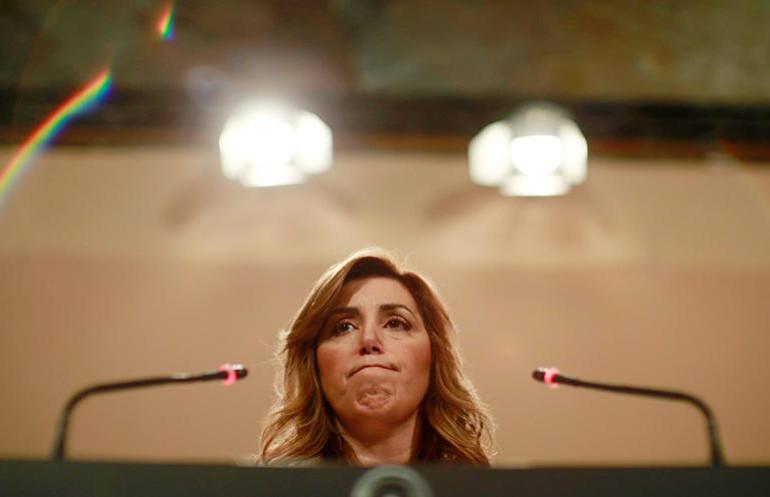 Susana Díaz cumple su primer año natural en la Junta sin bajar del millón de parados