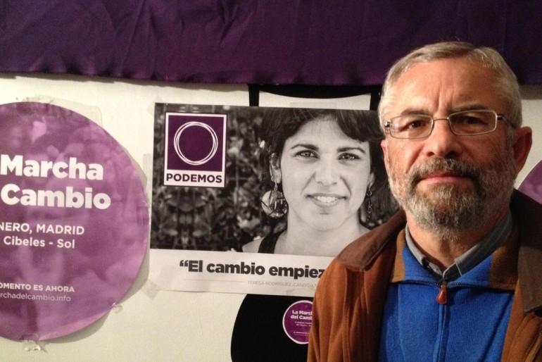 Periodista, comunista e insolvente: Félix Gil, número 1 de Podemos en Málaga
