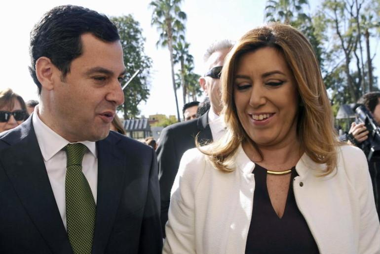 Díaz, Moreno y Maíllo preparan el debate en Canal Sur para cazar votos de los indecisos