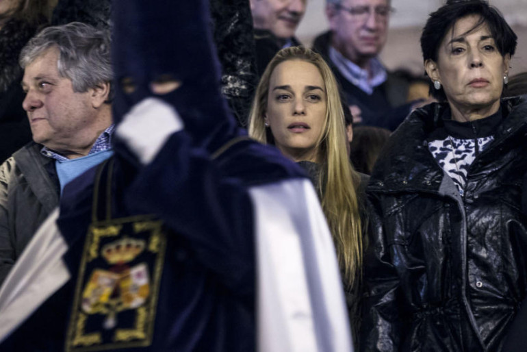 Lilian Tintori en la Semana Santa de Málaga