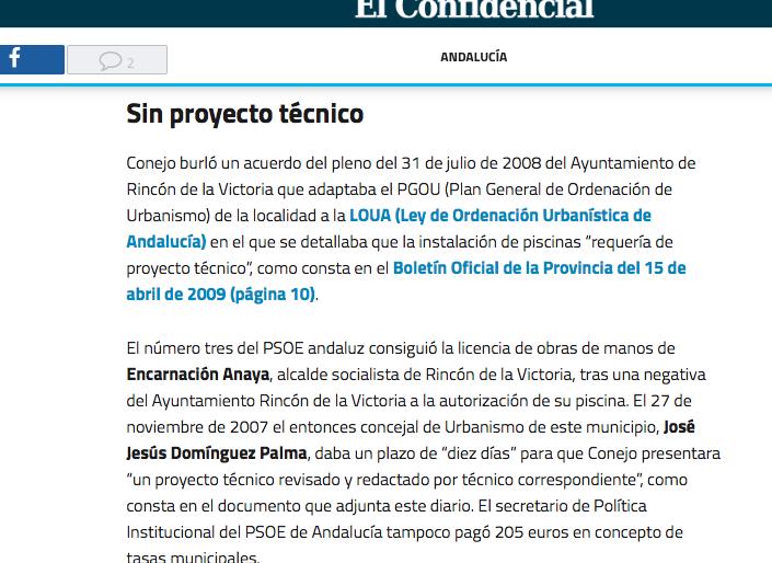"""""""Causa compleja"""" contra la piscina del número 3 de Susana Díaz"""