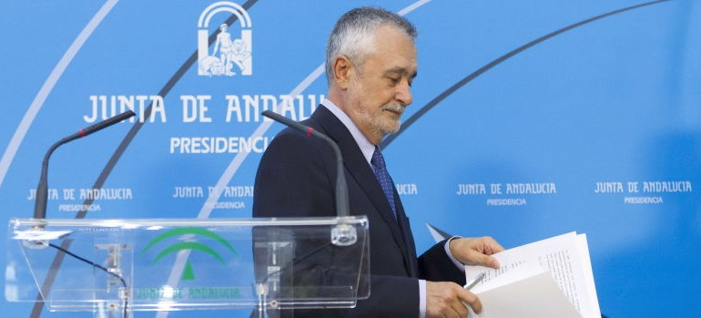 """Griñán se olvida de los ERE: achaca a """"razones personales"""" su marcha"""