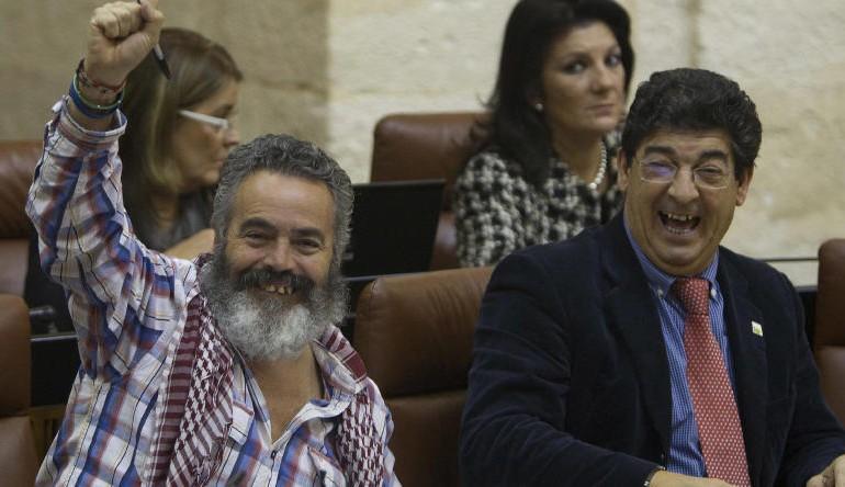 """Sánchez Gordillo, impulsor de los okupas: """"Hay que romper el pacto con la Junta"""""""