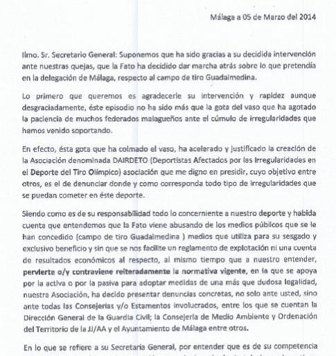 La Junta rechaza investigar las cuentas de la Federación Andaluza de Tiro Olímpico