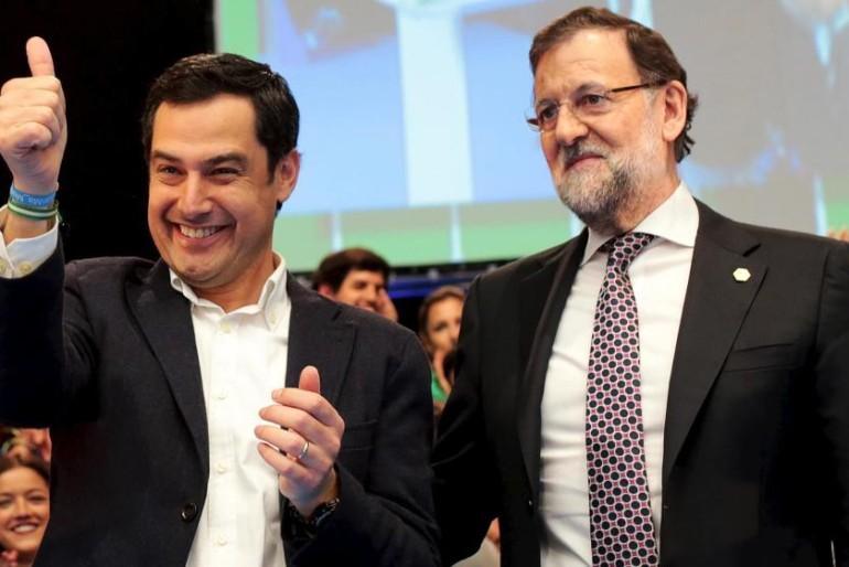 Rajoy respalda a Moreno tras decir «no» a Díaz: «Estás haciendo lo que tienes que hacer»