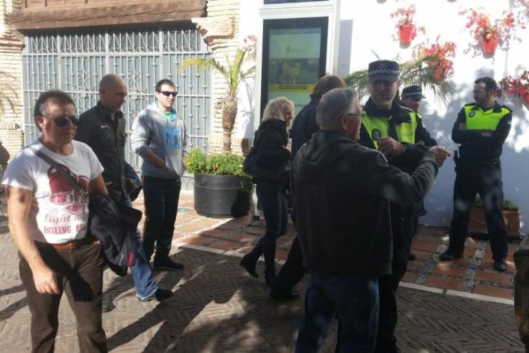 Los 'okupas' de Marbella desahuciados por Cajasur