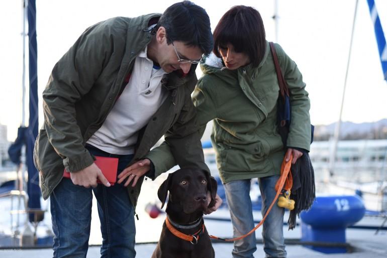 Una medalla para Nanook, el perro labrador de Málaga